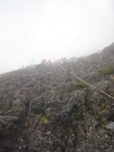 富士山7合目付近